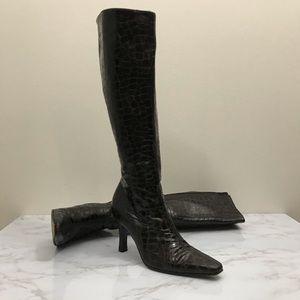 STUART WEITZMAN WOMEN'S ALLIGATOR KNEE HIGH BOOTS